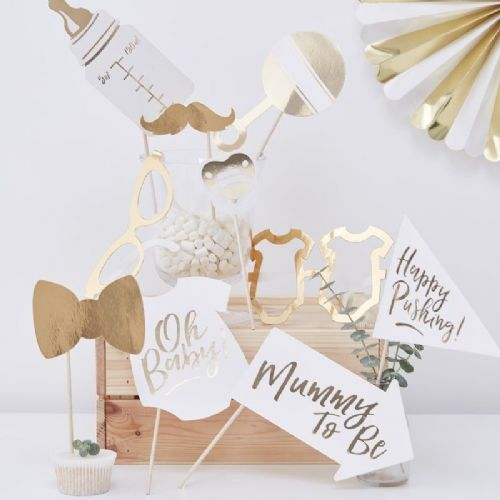 Oh Baby Photo Booth Props (10pk)